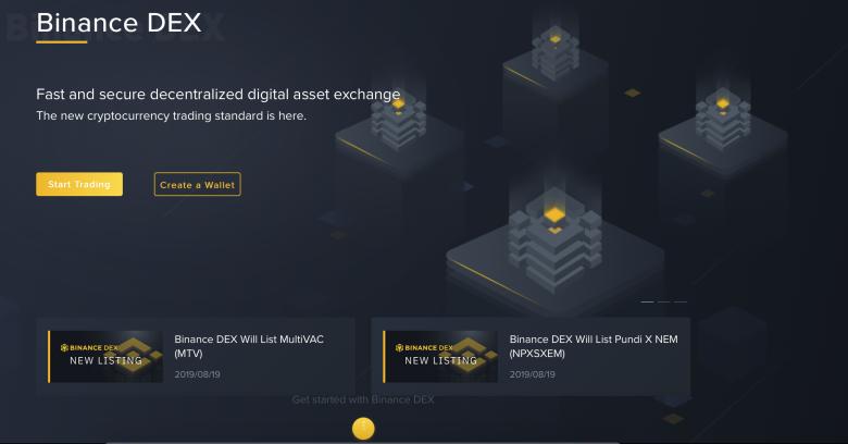 sàn giao dịch phi tập trung Binance Dex