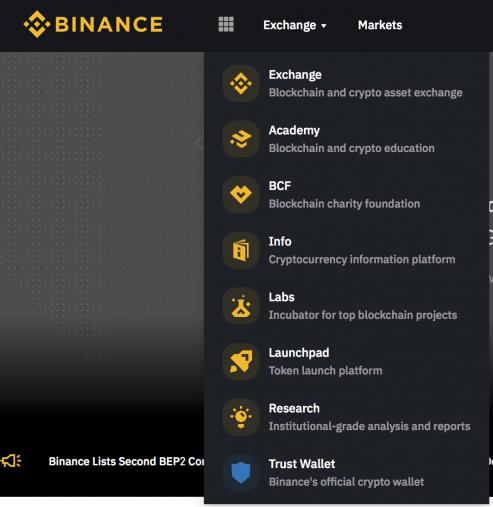 Các tính năng trên sàn giao dịch binance
