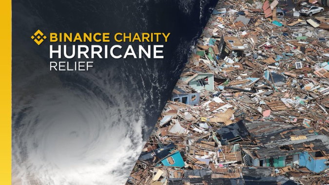 Binance Charity: Hurricane relief