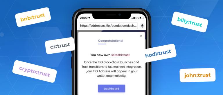 Trust Wallet chấp nhận đặt trước địa chỉ độc quyền tại FIO - giao thức được Binance Labs đầu tư | Syndicator