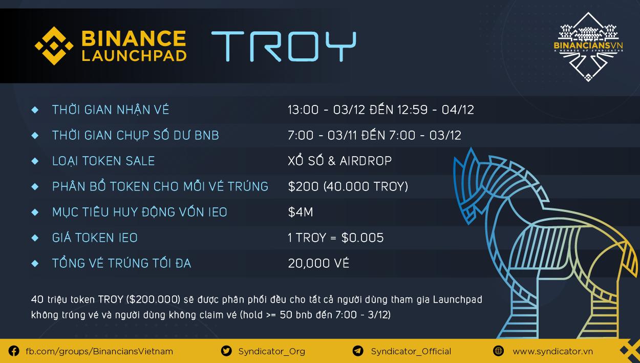 Chi tiết token sale dự án thứ 11 Binance Launchpad