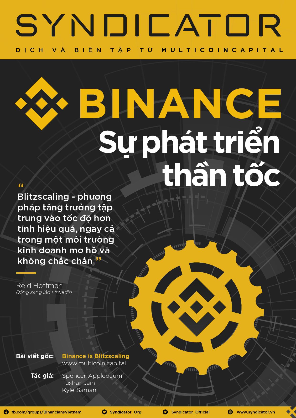 Binance: Sự phát triển thần tốc
