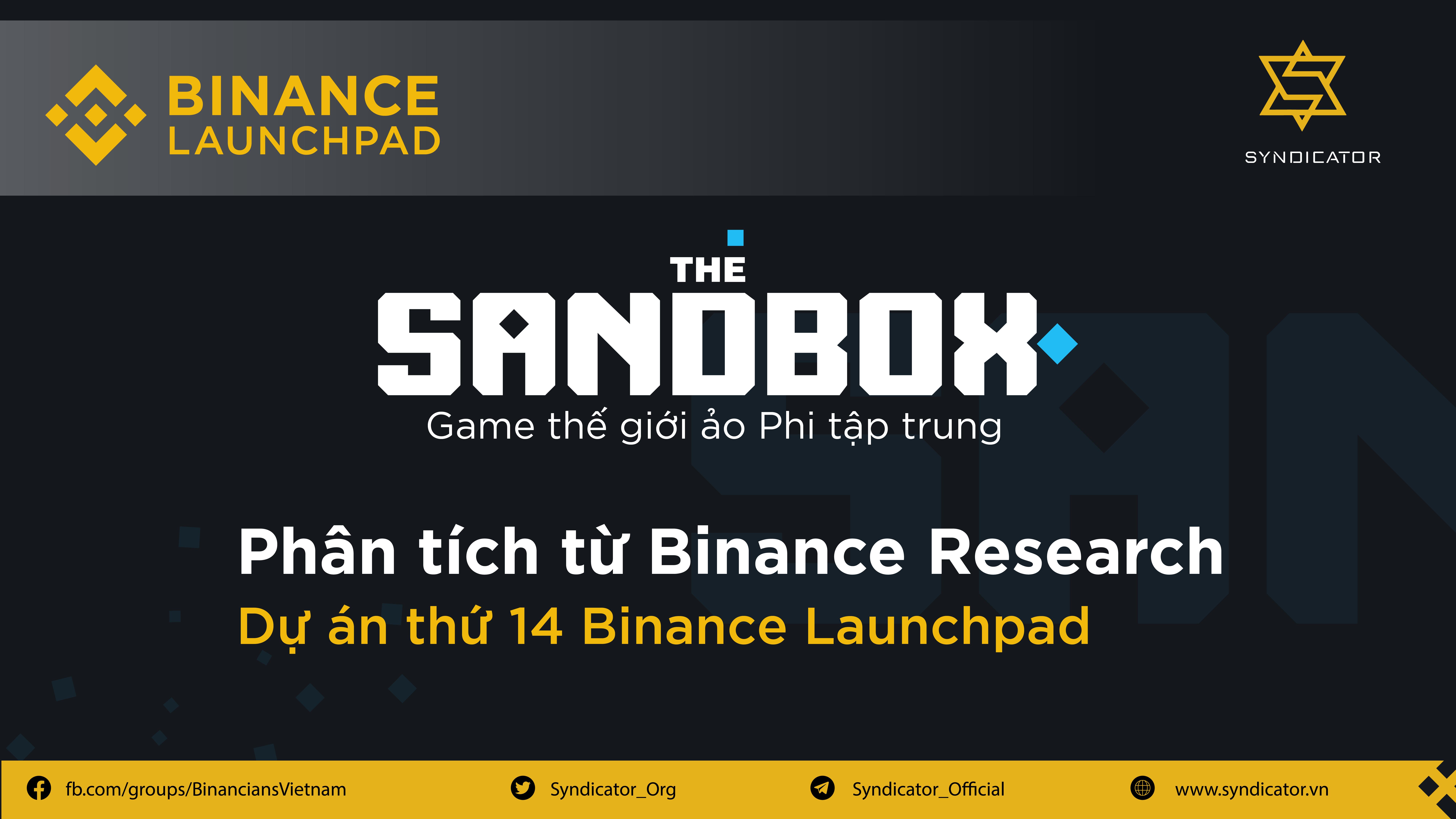 The Sandbox - Game thế giới ảo phi tập trung | Syndicator