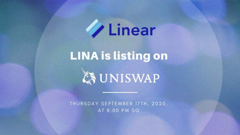 Linear Finance (LINA) chính thức niêm yết trên Uniswap | Syndicator