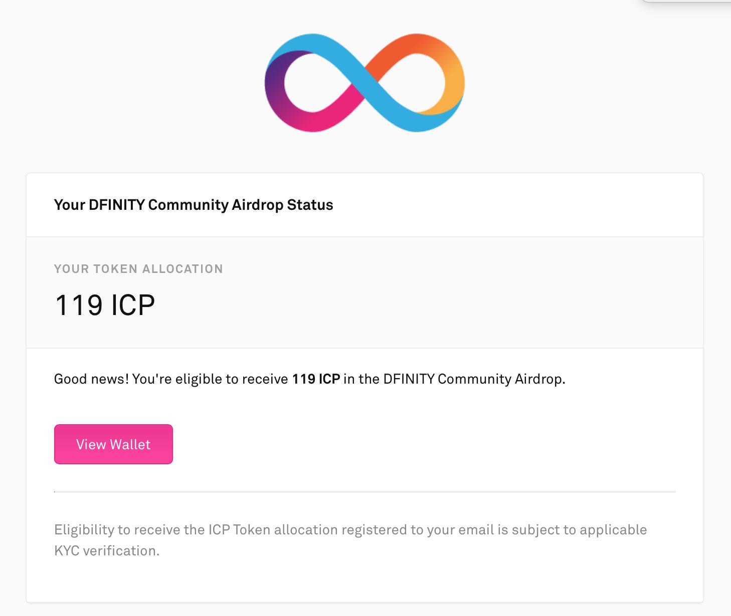 Chương trình Airdrop Dfinity trên Coinlist | Syndicator