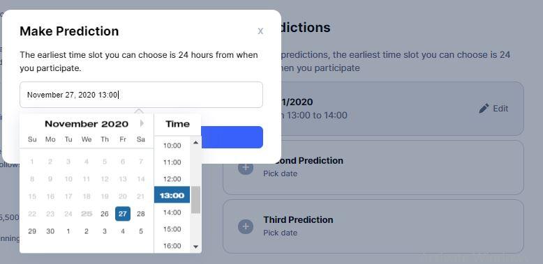 Hướng dẫn tham gia dự đoán giá Bitcoin và giành tổng giải thưởng lên tới 10,000$ - syndicator
