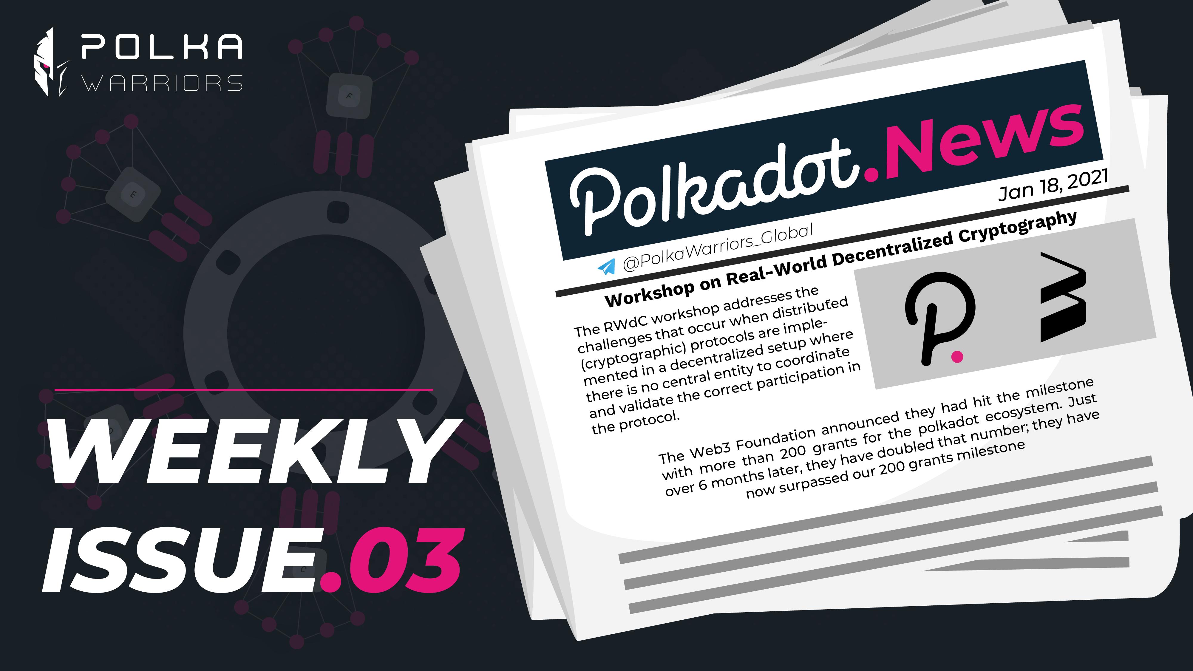 PolkaWarriors Weekly Issue.(dot)3 - top 4 coinmarketcap - syndicator