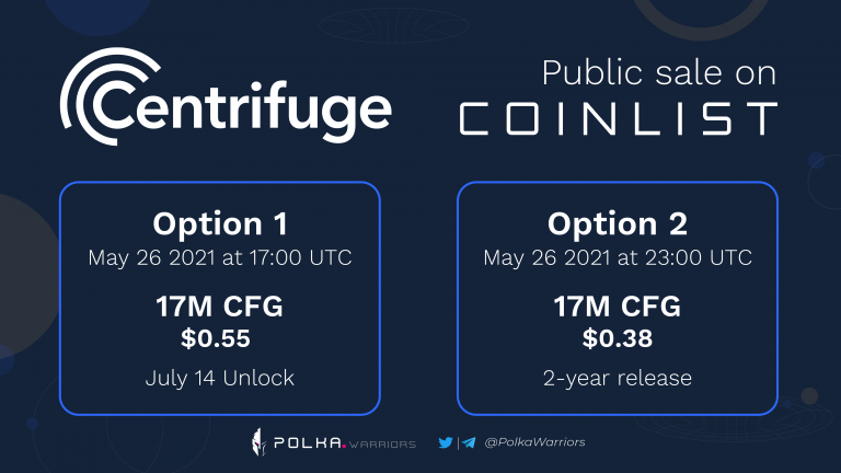 Centrifuge - Cầu nối giữa tài sản thực với blockchain - Token sale trên coinlist - syndicator - polkawarriors