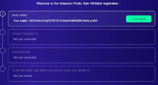 Hướng dẫn tham gia whitelist Solanium - nền tảng phi tập trung trên Solana